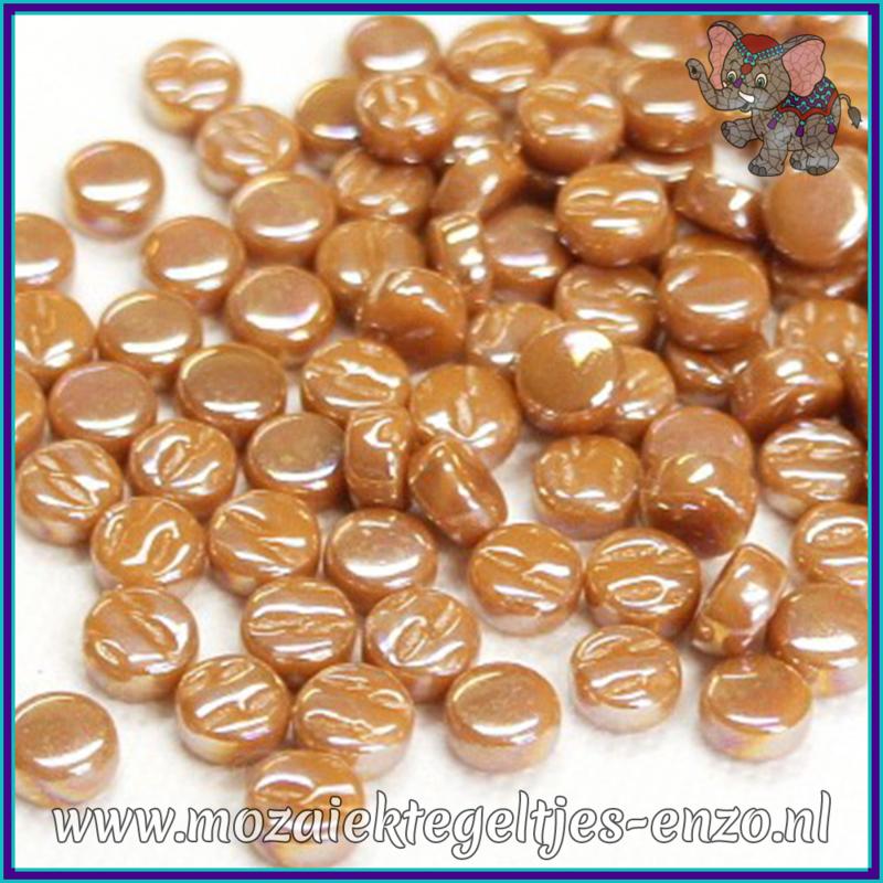 Glasmozaiek Pixel steentjes - Darling Dotz Parelmoer - 0,8 cm - Enkele Kleuren - per 50 gram - Brown Sugar