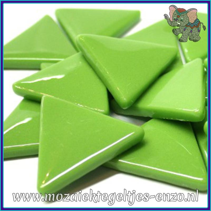 Glasmozaiek steentjes - Art Angles Gewoon - 29 mm - Enkele Kleuren - per 8 stuks - New Green