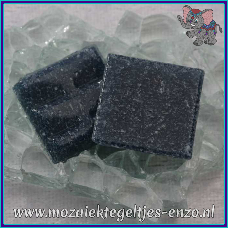 Glasmozaiek tegeltjes - Basic Line - 2 x 2 cm - Enkele Kleuren - per 20 steentjes - Navy Blue A73