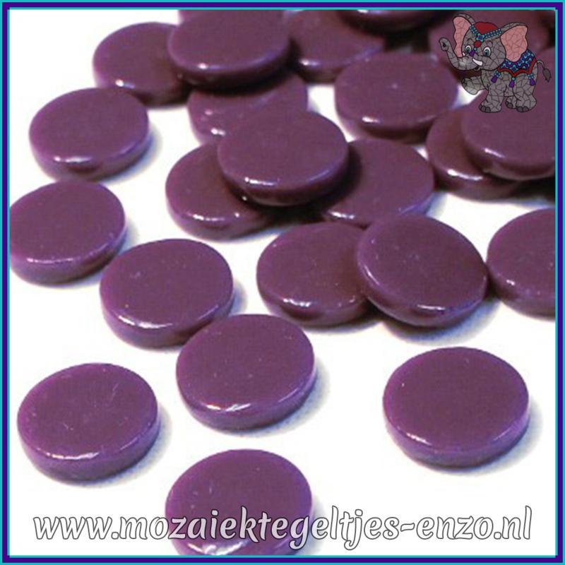 Glasmozaiek steentjes - Penny Rounds Normaal - 18 mm - Enkele Kleuren - per 50 gram - Deep Purple