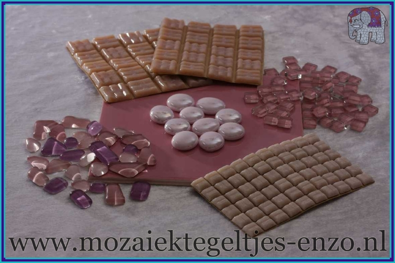 Mozaiek Kleur Pakket  Basic Line - Roze