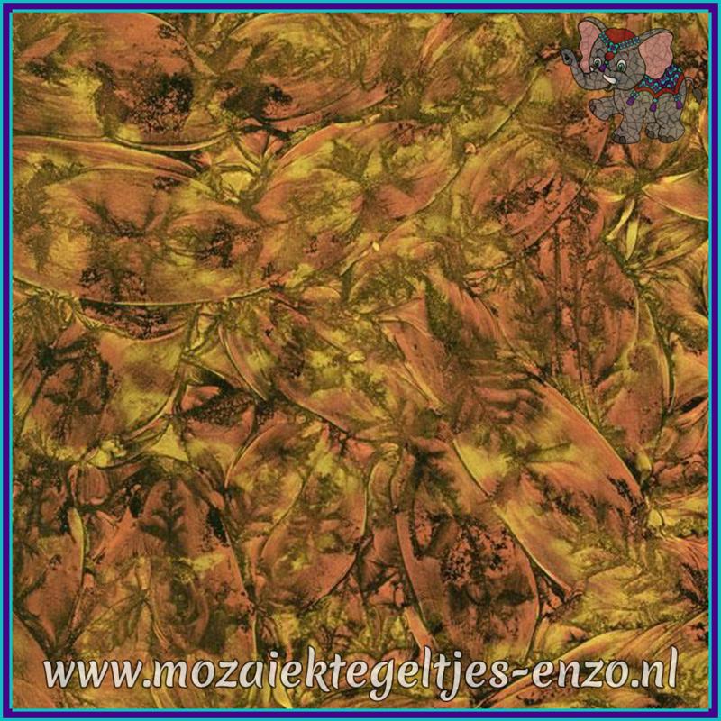 Plaatglas - Van Gogh Glass Normaal - 5 x 10 cm - Gemixte Kleuren - per 1 stuk - Copper Gold