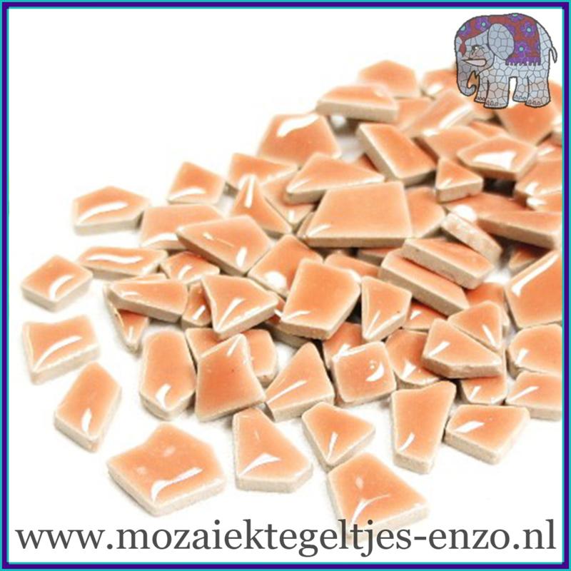 Keramische mozaiek steentjes - Keramiek Puzzel Stukjes Normaal - Enkele Kleuren - per 50 gram - Wild Salmon