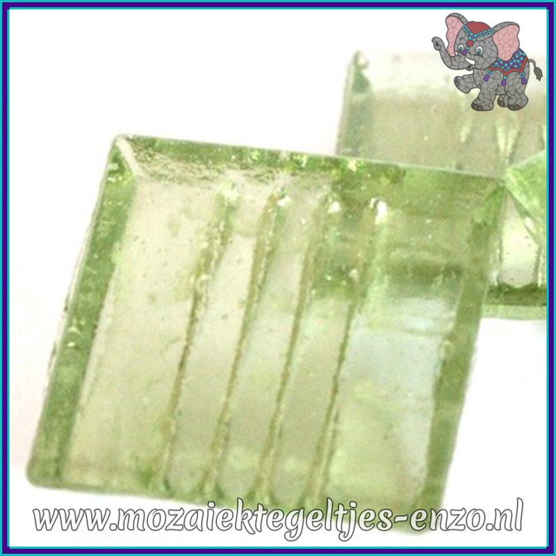 Glasmozaiek tegeltjes - Doorzichtig - 2 x 2 cm - Enkele Kleuren - per 20 steentjes - Ice Green