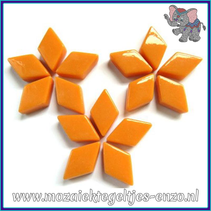 Glasmozaiek steentjes - Diamonds Ruitjes Wiebertjes Normaal - 12 x 19 mm - Enkele Kleuren - per 50 gram - Orange Opal
