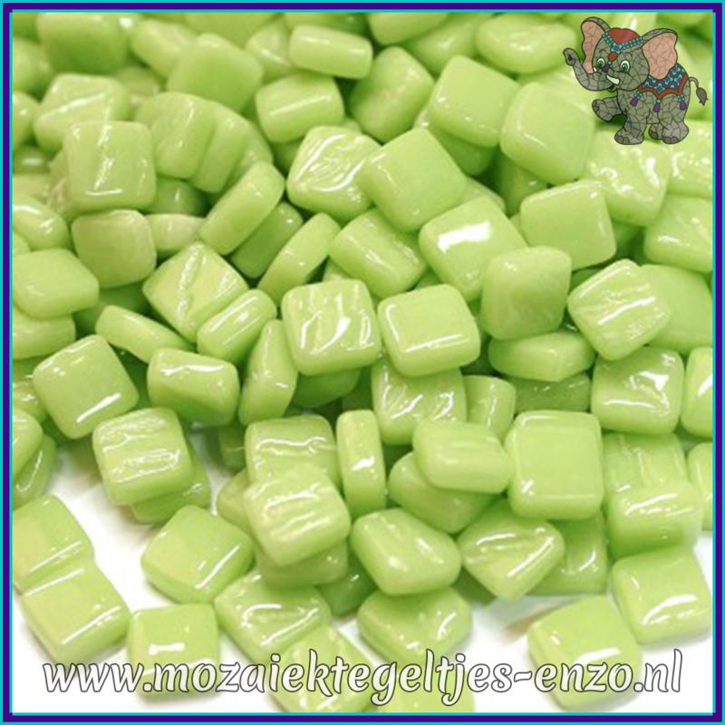 Glasmozaiek Pixel steentjes - Ottoman Normaal - 0,8 x 0,8 cm - Enkele Kleuren - per 50 gram - Mint Green