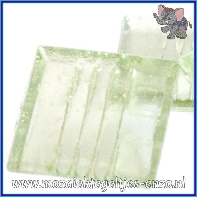 Glasmozaiek tegeltjes - Doorzichtig - 2 x 2 cm - Enkele Kleuren - per 20 steentjes - Ice Pistachio