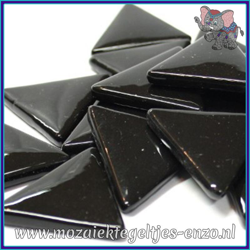 Glasmozaiek steentjes - Art Angles Normaal - 29 mm - Enkele Kleuren - per 1 stuk - Black