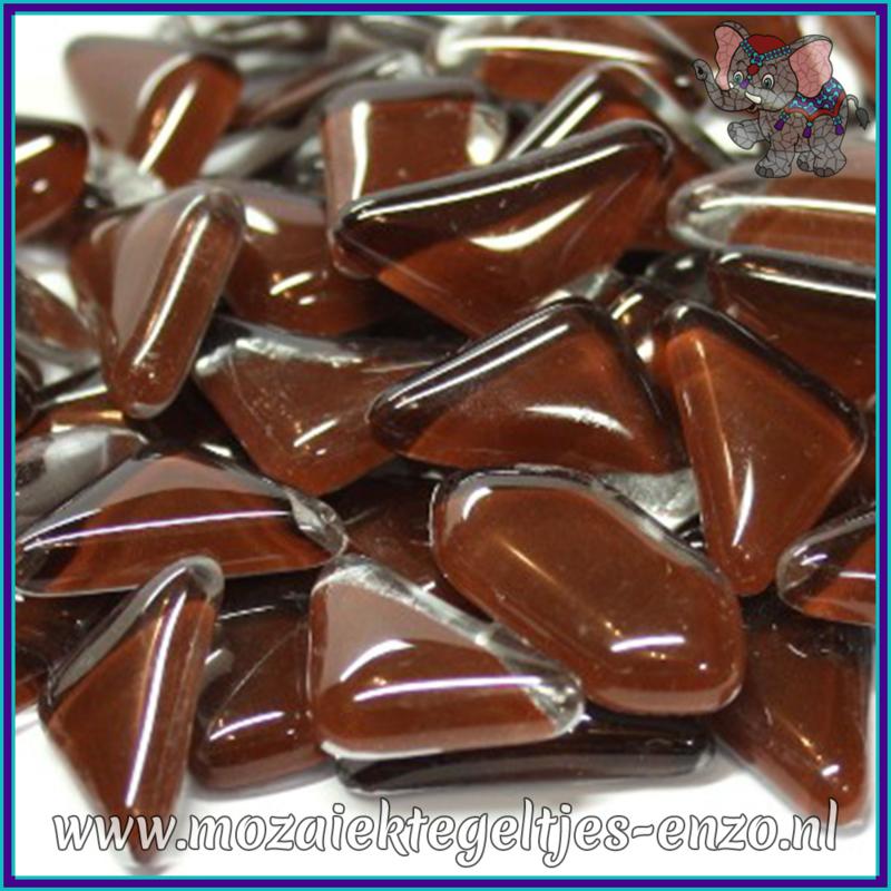 Glasmozaiek steentjes - Soft Glass Puzzles Normaal - Enkele Kleuren - per 50 gram - Espresso