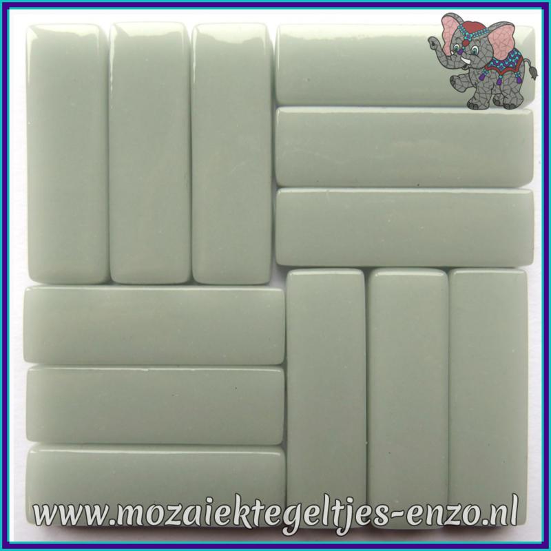 Glasmozaiek steentjes - Stix Rechthoekjes Staafjes XL Normaal - 12 x 38 mm - Enkele Kleuren - per 50 gram - Pale Grey