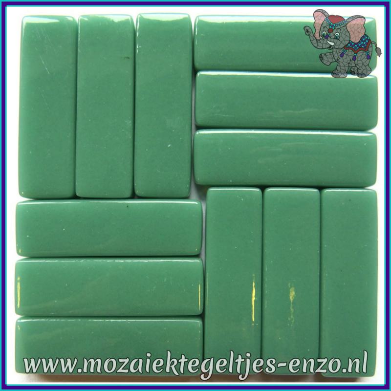Glasmozaiek steentjes - Stix Rechthoekjes Staafjes XL Normaal - 12 x 38 mm - Enkele Kleuren - per 50 gram - Mid Teal