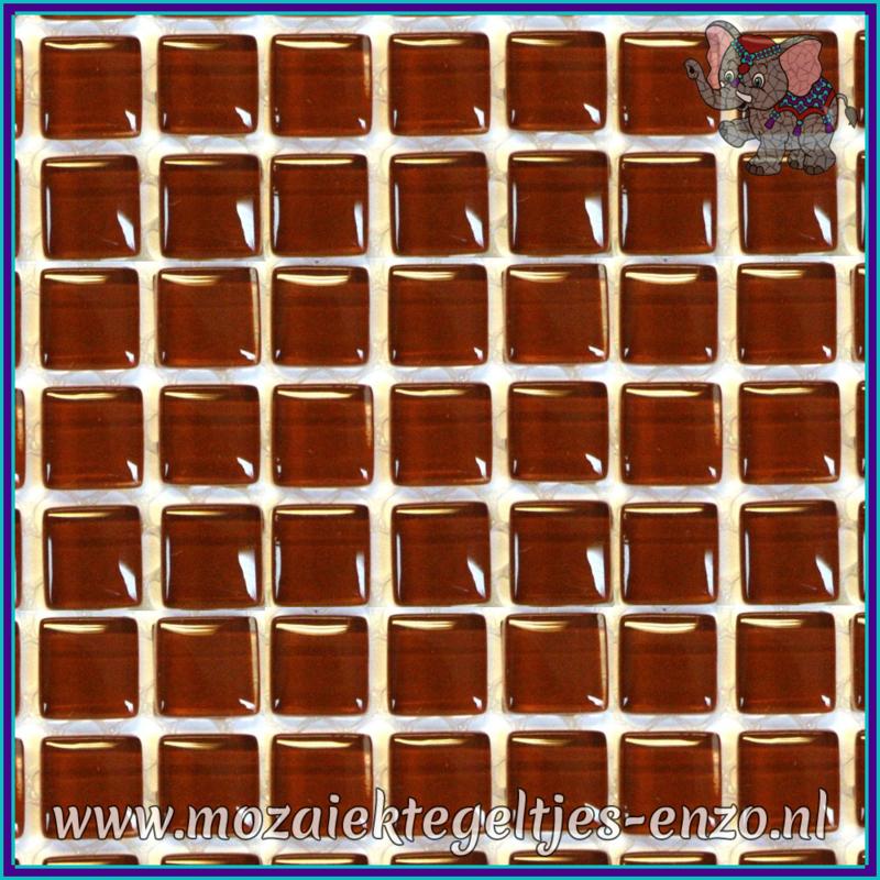 Glasmozaiek tegeltjes - Murrini Crystal - 1 x 1 cm - Enkele Kleuren - per 60 steentjes - Mini Milk Chocolate