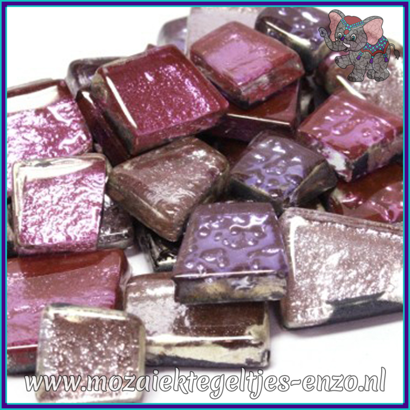 Glasmozaiek steentjes - Moonshine Measures Normaal - Gemixte Kleuren - per 50 gram - Miranda Rose