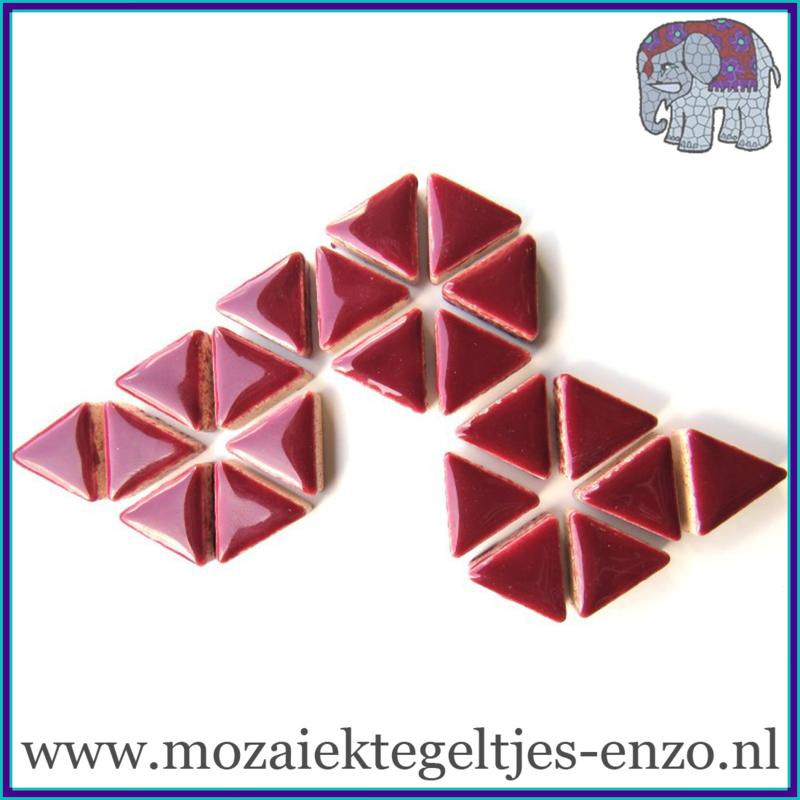 Keramische mozaiek steentjes - Triangles Driehoekjes Normaal - 15 mm - Enkele Kleuren - per 50 gram - Merlot