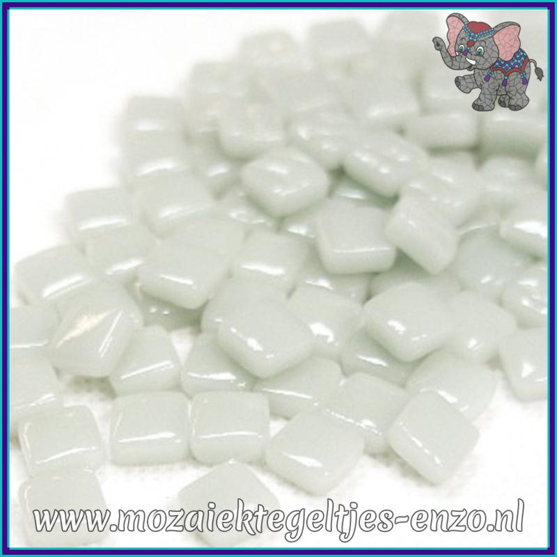 Glasmozaiek Pixel steentjes - Ottoman Normaal - 0,8 x 0,8 cm - Enkele Kleuren - per 50 gram - Pearl Grey