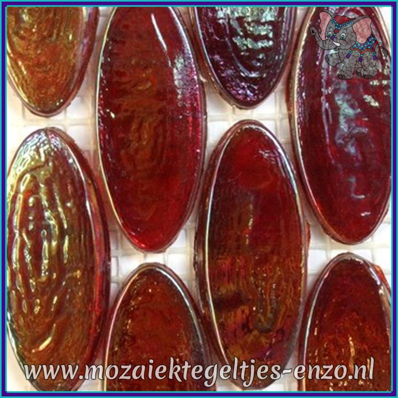 Glasmozaiek steentjes - Radiant Ellipse Parelmoer - 20 x 45 mm - Enkele Kleuren - per 1 stuk - Burma