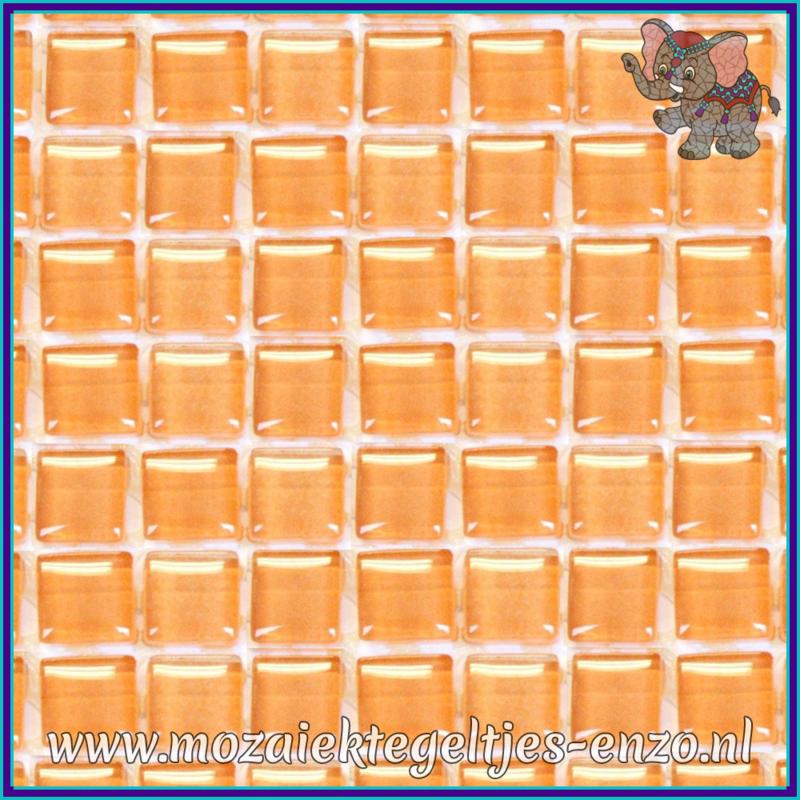 Glasmozaiek tegeltjes - Murrini Crystal - 1 x 1 cm - Enkele Kleuren - per 60 steentjes - Mini Fresh Peach