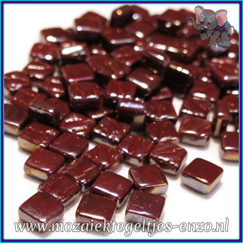 Glasmozaiek Pixel steentjes - Ottoman Parelmoer - 0,8 x 0,8 cm - Enkele Kleuren - per 50 gram - Bordeaux