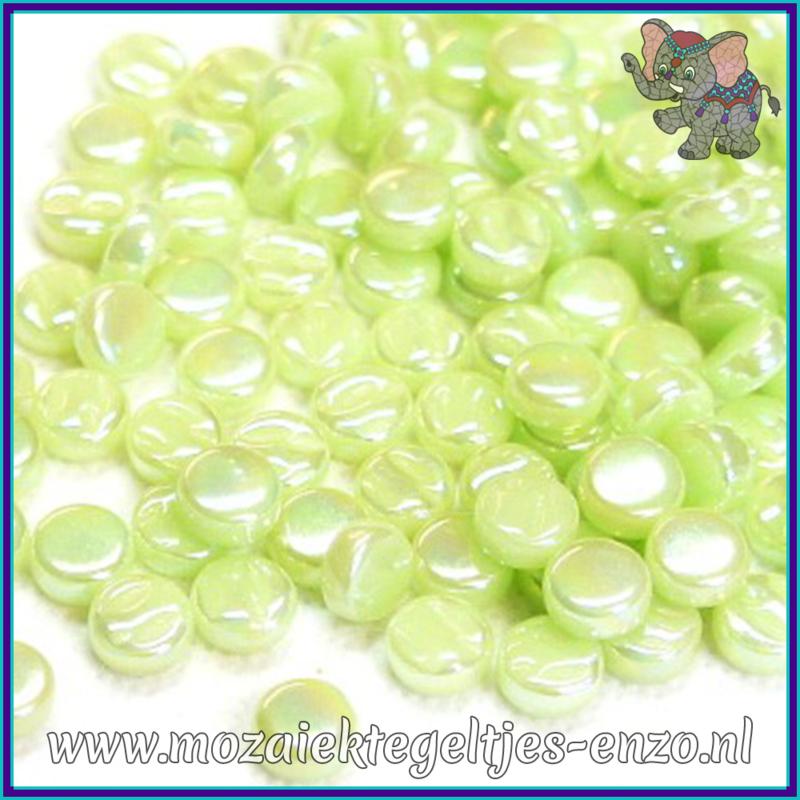 Glasmozaiek Pixel steentjes - Darling Dotz Parelmoer - 0,8 cm - Enkele Kleuren - per 50 gram - Soft Green