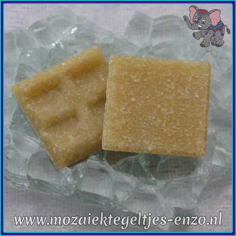 Glasmozaiek tegeltjes - Basic Line - 2 x 2 cm - Enkele Kleuren - per 20 steentjes - Biscuit A32