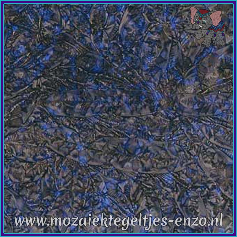 Plaatglas - Van Gogh Glass Normaal - 5 x 10 cm - Gemixte Kleuren - per 1 stuk - Blue Champagne