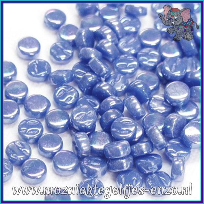 Glasmozaiek Pixel steentjes - Darling Dotz Parelmoer - 0,8 cm - Enkele Kleuren - per 50 gram - True Blue