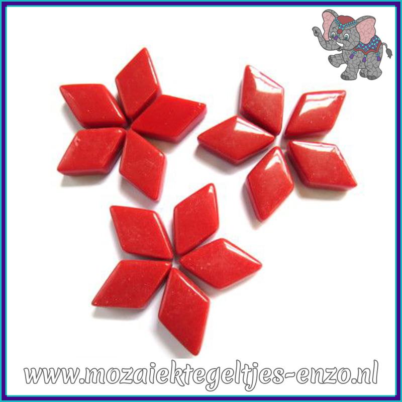 Glasmozaiek steentjes - Diamonds Ruitjes Wiebertjes Normaal - 12 x 19 mm - Enkele Kleuren - per 50 gram - Blood Red