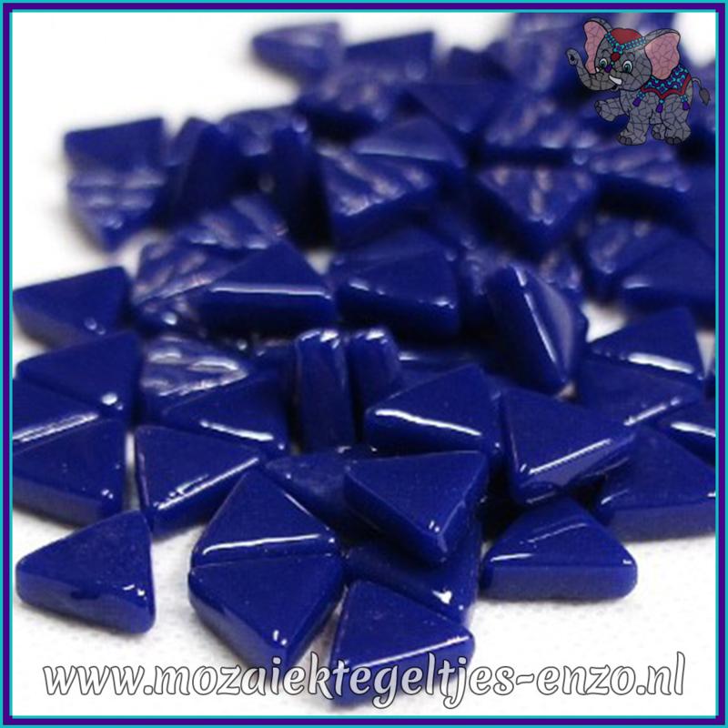 Glasmozaiek steentjes - Art Angles Normaal - 10 mm - Enkele Kleuren - per 50 gram - Royal Blue