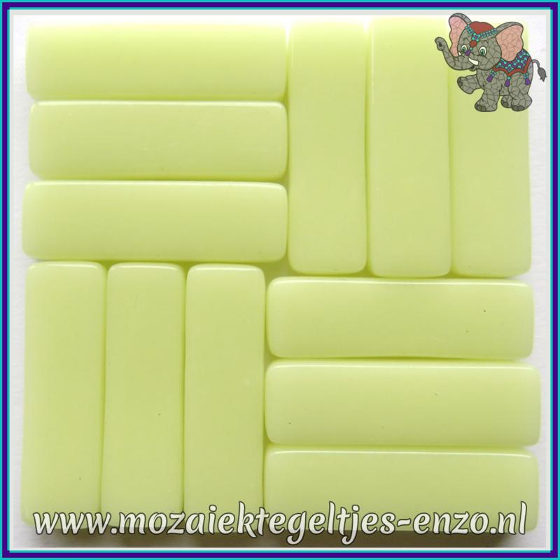 Glasmozaiek steentjes - Stix Rechthoekjes Staafjes XL Normaal - 12 x 38 mm - Enkele Kleuren - per 50 gram - Yellow Pollen