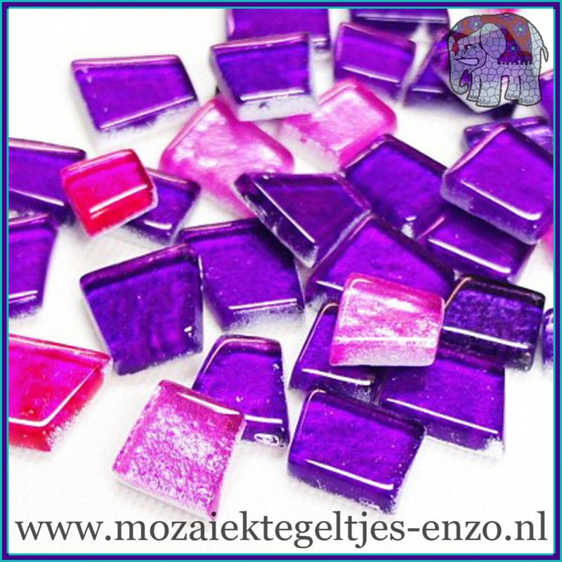 Glasmozaiek steentjes - Moonbeam Normaal - Gemixte Kleuren - per 50 gram - Shangri La