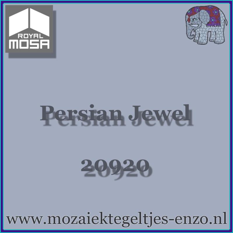 Binnen wandtegel Royal Mosa - Glanzend - 7,5 x 15 cm - Op maat gesneden - Persian Jewel 20920
