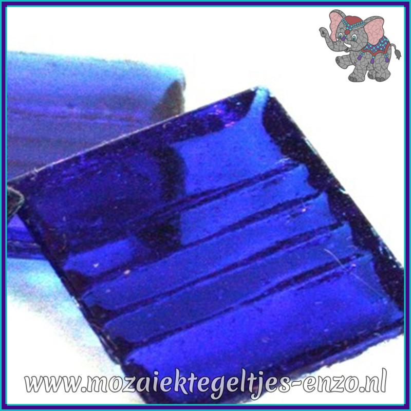 Glasmozaiek tegeltjes - Doorzichtig - 2 x 2 cm - Enkele Kleuren - per 20 steentjes - Royal Blue