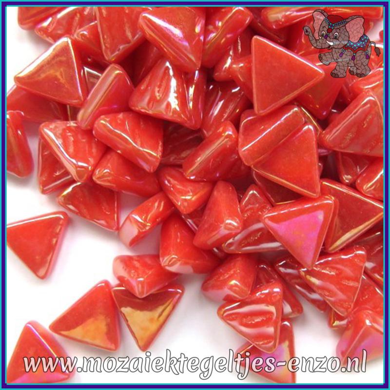 Glasmozaiek steentjes - Art Angles Parelmoer - 10 mm - Enkele Kleuren - per 50 gram - Watermelon
