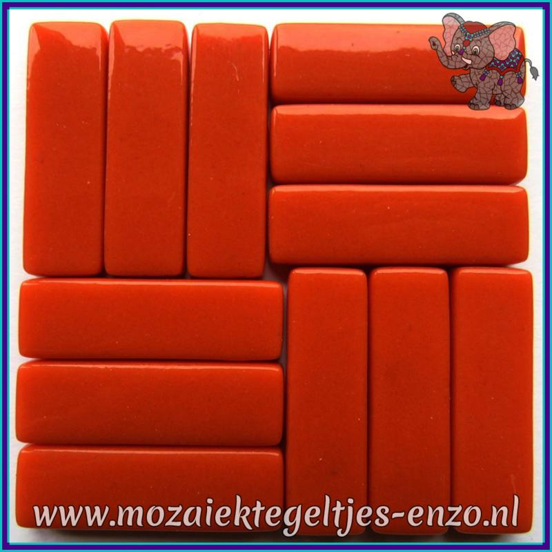 Glasmozaiek steentjes - Stix Rechthoekjes Staafjes XL Normaal - 12 x 38 mm - Enkele Kleuren - per 50 gram - Chili Pepper