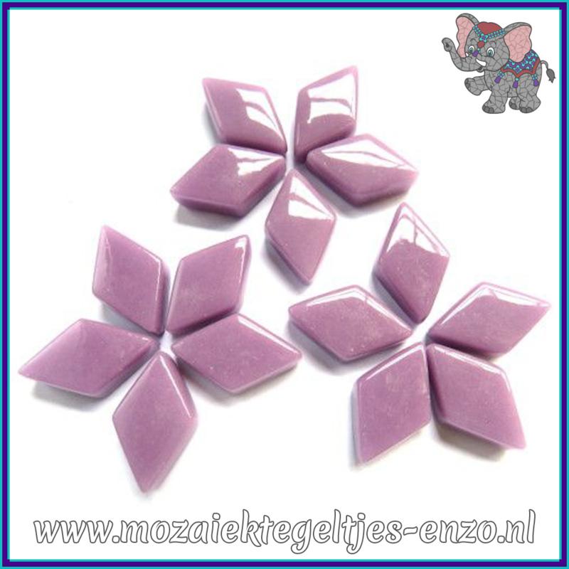 Glasmozaiek steentjes - Diamonds Ruitjes Wiebertjes Normaal - 12 x 19 mm - Enkele Kleuren - per 50 gram - Lilac