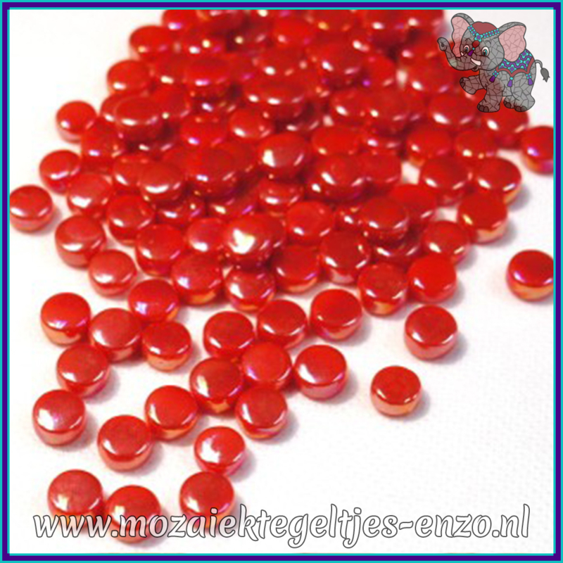Glasmozaiek Pixel steentjes - Darling Dotz Parelmoer - 0,8 cm - Enkele Kleuren - per 50 gram - Watermelon