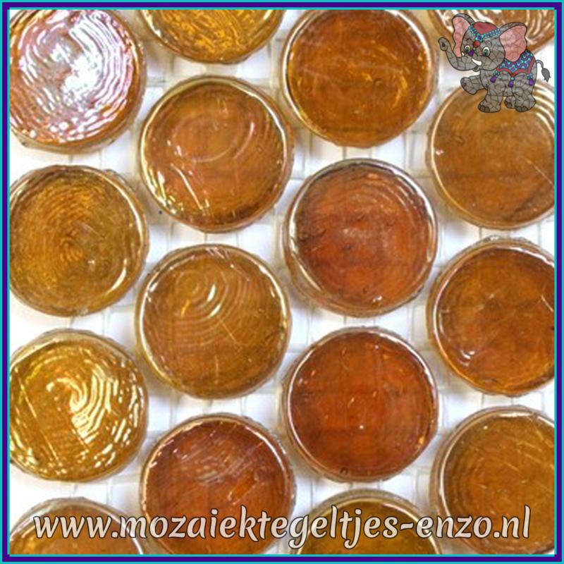 Glasmozaiek steentjes - Radiant Round Parelmoer - 18 mm - Enkele Kleuren - per 1 stuk - Morocco
