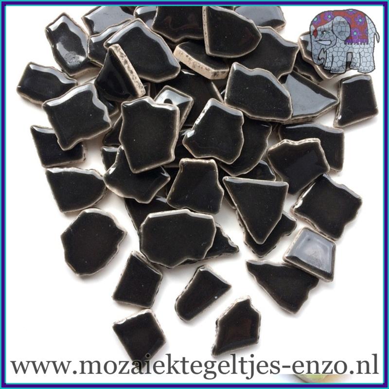 Keramische mozaiek steentjes - Keramiek Puzzel Stukjes Normaal - Enkele Kleuren - per 50 gram - Charcoal