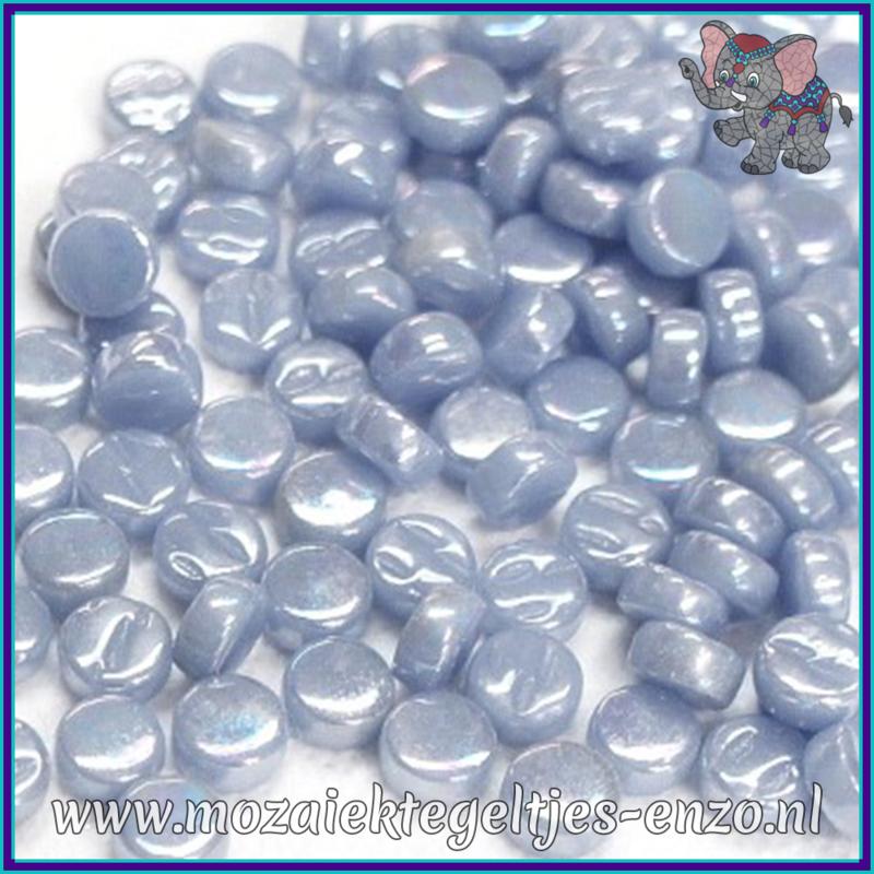 Glasmozaiek Pixel steentjes - Darling Dotz Parelmoer - 0,8 cm - Enkele Kleuren - per 50 gram - Pale Blue