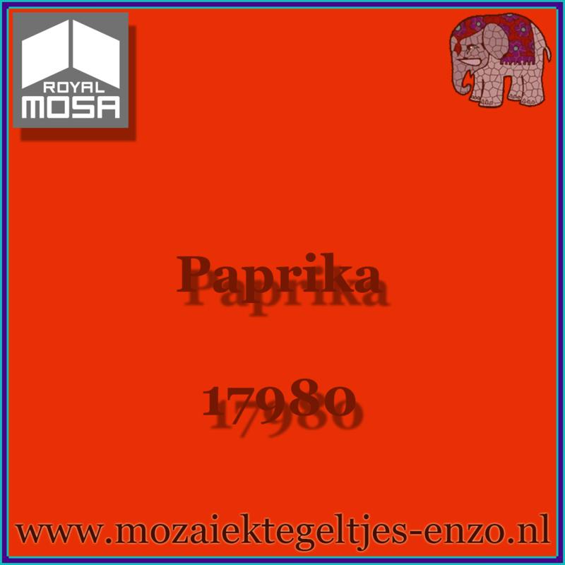 Binnen wandtegel Royal Mosa - Glanzend - 7,5 x 7,5 cm - Op maat gesneden - Paprika 17980