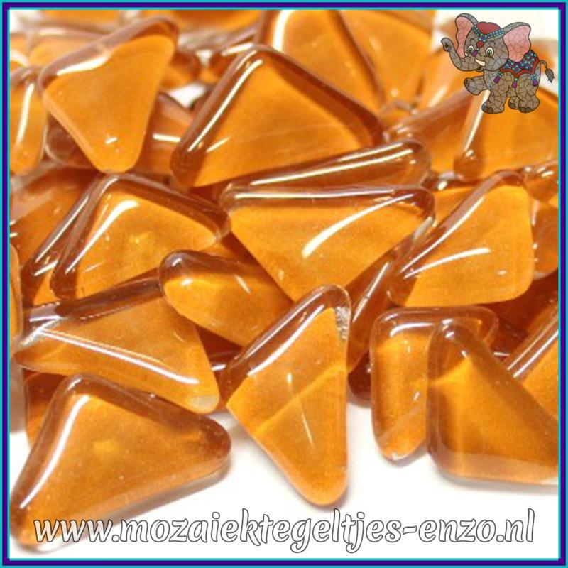 Glasmozaiek steentjes - Soft Glass Puzzles Normaal - Enkele Kleuren - per 50 gram - Creme Caramel