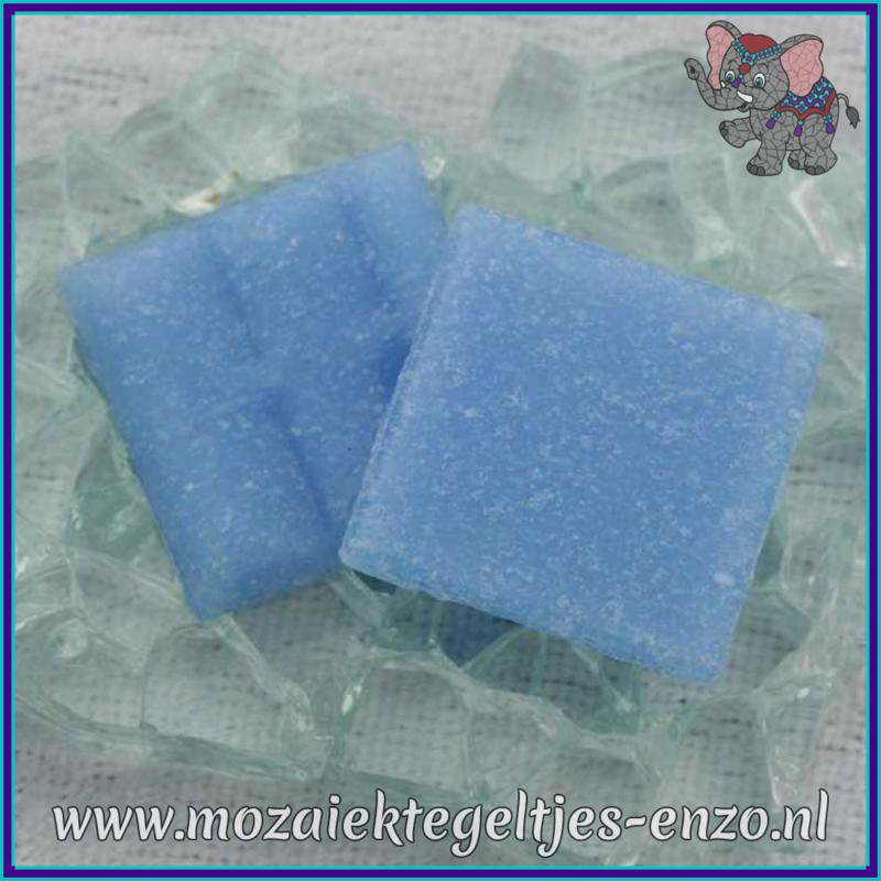 Glasmozaiek tegeltjes - Basic Line - 2 x 2 cm - Enkele Kleuren - per 20 steentjes - Sky Blue A18