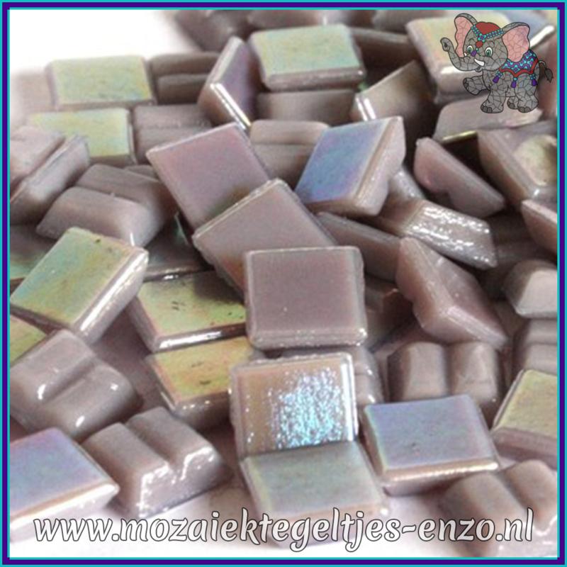 Glasmozaiek tegeltjes - Parelmoer - 1 x 1 cm - Enkele Kleuren - per 60 steentjes - Mini Lilac Quartz