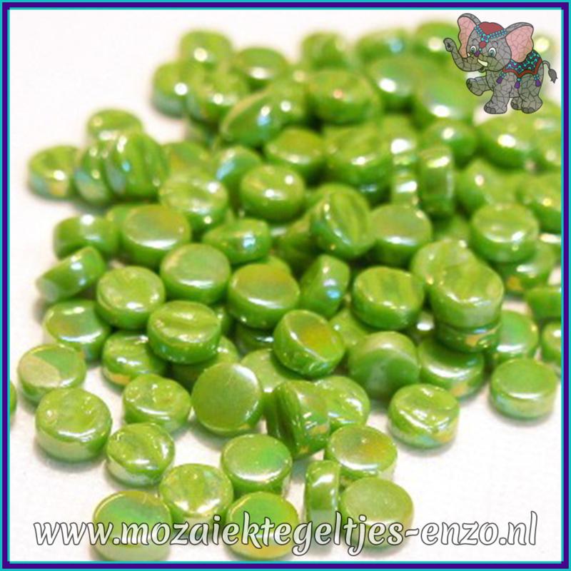 Glasmozaiek Pixel steentjes - Darling Dotz Parelmoer - 0,8 cm - Enkele Kleuren - per 50 gram - New Green