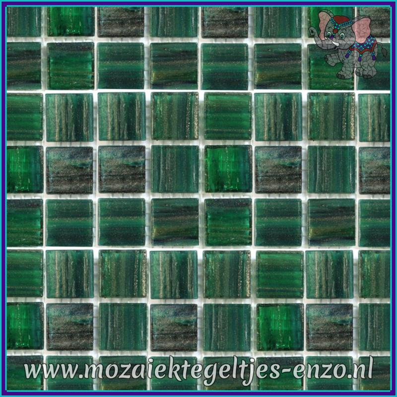 Glasmozaiek tegeltjes - Gold Line - 2 x 2 cm - Enkele Kleuren - per 20 steentjes - Enchanted Forest