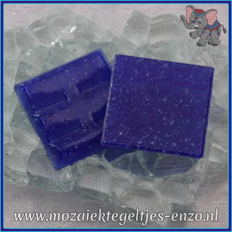 Glasmozaiek tegeltjes - Basic Line - 2 x 2 cm - Enkele Kleuren - per 20 steentjes - Cobalt A20
