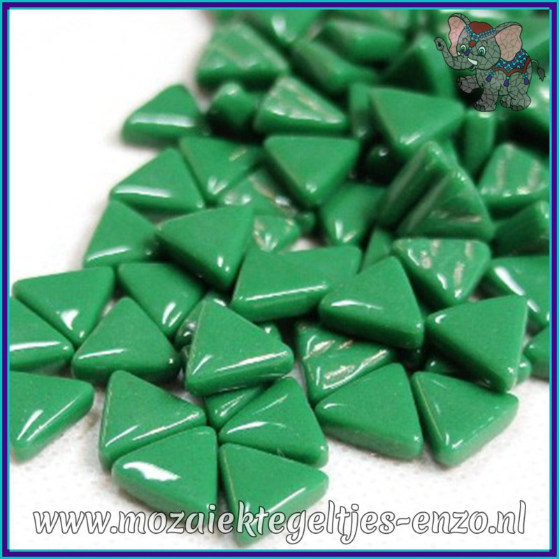 Glasmozaiek steentjes - Art Angles Normaal - 10 mm - Enkele Kleuren - per 50 gram - Spruce Green