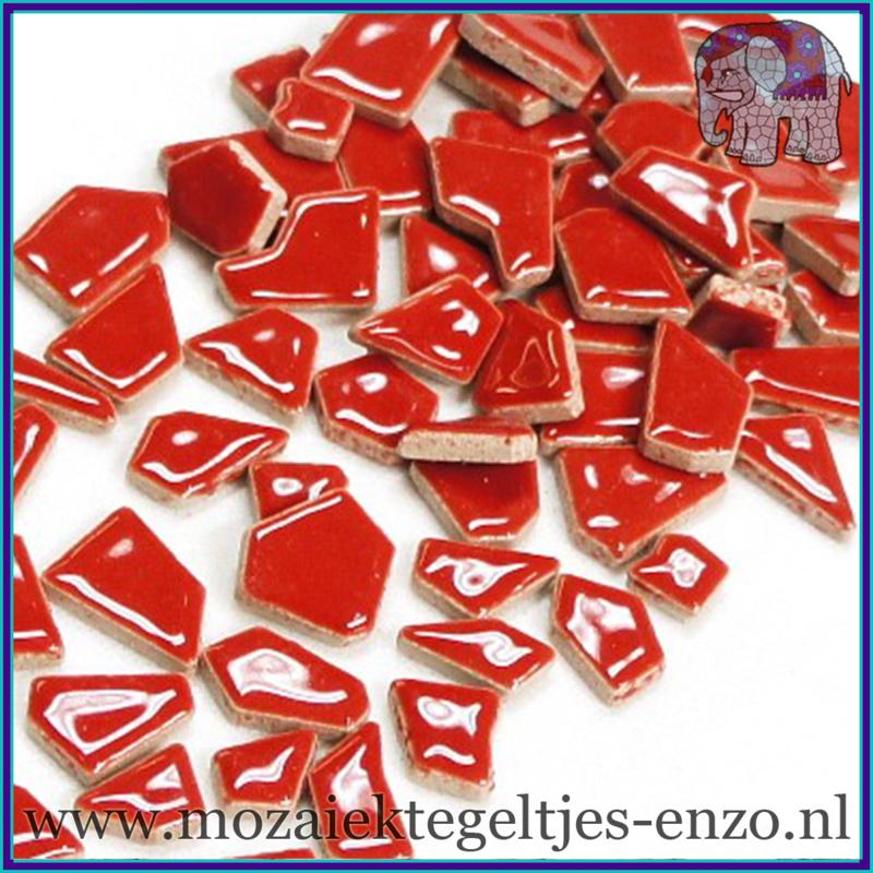 Keramische mozaiek steentjes - Keramiek Puzzel Stukjes Normaal - Enkele Kleuren - per 50 gram - Red