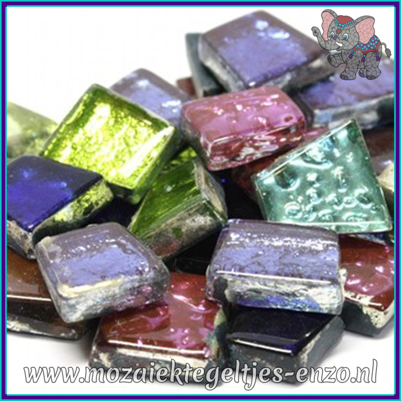 Glasmozaiek steentjes - Moonshine Measures Normaal - Gemixte Kleuren - per 50 gram - Calypso Bright
