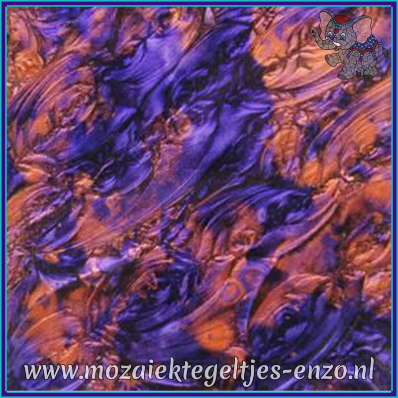 Plaatglas - Van Gogh Glass Normaal - 5 x 10 cm - Gemixte Kleuren - per 1 stuk - Violet Copper